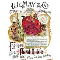 "L.L. May Ii; Farm & Floral Guide - Prima Marketing Decor Transfer Rub-On 24""X34"""
