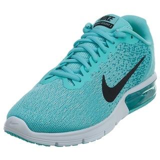 Nike Women's Air Max Sequent 2 Running Shoes Aurora Green/Black-turbo Green-igloo - aurora green/black-turbo green-igloo