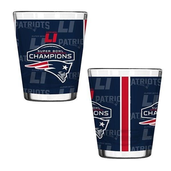 New England Patriots Super Bowl LI Champions Shot Glass