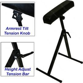 InkBed Black Armrest Leg Rest Adjustable Height and Tilt Tattoo Equipment