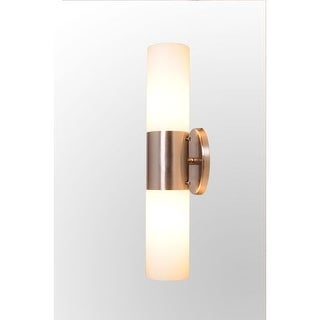 Design House 570929 Eastport Two Light Wall Sconce with Frosted White Glass Shade