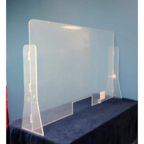 """Offex Sneeze Guard Acrylic Divider Protection Barrier Shield for Counter - Clear, 30"""" x 24"""" x 6"""" - 30"""" x 24"""" x 6"""""""