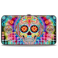 Tranquility Beats Calaveras & Flowers Rays Multi Color Hinged Wallet - One Size Fits most