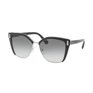 Link to Prada PR 56TS 1AB0A7 57 Black/silver Woman Square Sunglasses Similar Items in Women's Sunglasses