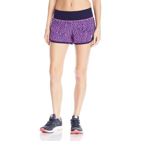 "New Balance Women's Impact 3"" Shorts, Urchin/Multi, Medium"