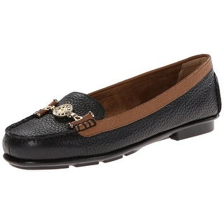 Aerosoles Womens Nuwlywed Leather Square Toe Loafers
