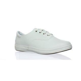 Grasshoppers Womens White Leather Fashion Sneaker Size 7 (2E)