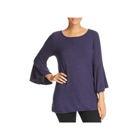 Nally & Millie Womens Tunic Sweater Knit Bell Sleeves