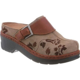 Klogs Women's Austin Clog Taupe Suede Tapestry