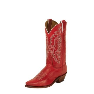Nocona Western Boots Womens Fashion Point Snip Toe Red Soft Ice LD2736