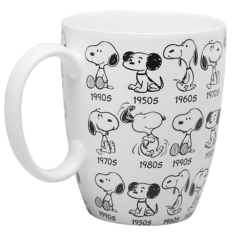 Department 56 Peanuts Snoopy Mug - 65th Anniversary Collector's Edition Cup - White - 5 in. x 5 in. x 5 in.