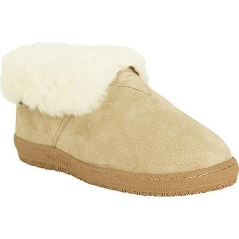Old Friend Bootee Slipper Chestnut/White
