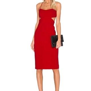 Jill Jill Stuart NEW Red Women's Size 2 Sheath Midi Cutout Dress