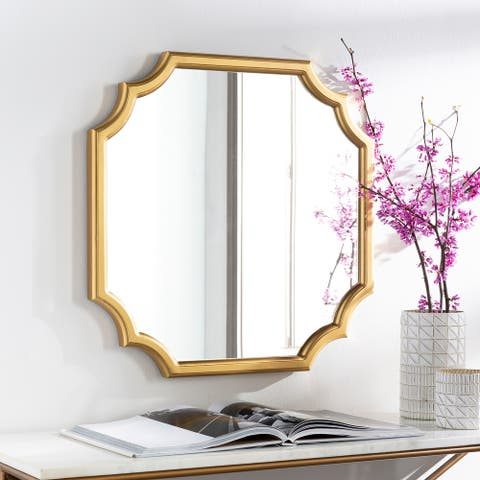 "Lannie Golden Scalloped 24-inch Mirror - 24""H x 24""W"