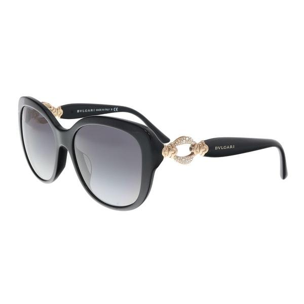 125fb3e11669 Shop Bulgari BV8180BF 501 8G Black Square Sunglasses - 57-17-140 ...