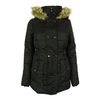 Krush Juniors Faux-Fur Trim Hood Puffer Coat