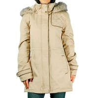 Liz Claiborne Ladies 3/4 Anorak Coat With Removable Hood