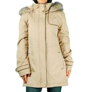 Liz Claiborne Ladies 3/4 Anorak Coat With Removable Hood