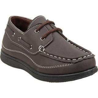 Josmo Boys' O-80383B Slip-on Boat Shoe Brown