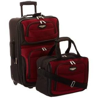 Travel Select Amsterdam Two Piece Carry-On Luggage Set -Burgundy