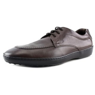 Tod's Allacciato Jack Men Round Toe Leather Brown Oxford