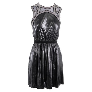 Tbags Los Angeles Womens Metallic Sleeveless Party Dress - S