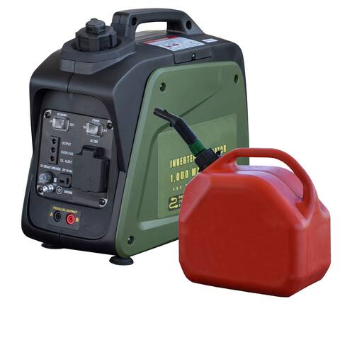 Offex 1000 Surge Watts Gasoline Portable Inverter Generator with Parallel Connection - N/A
