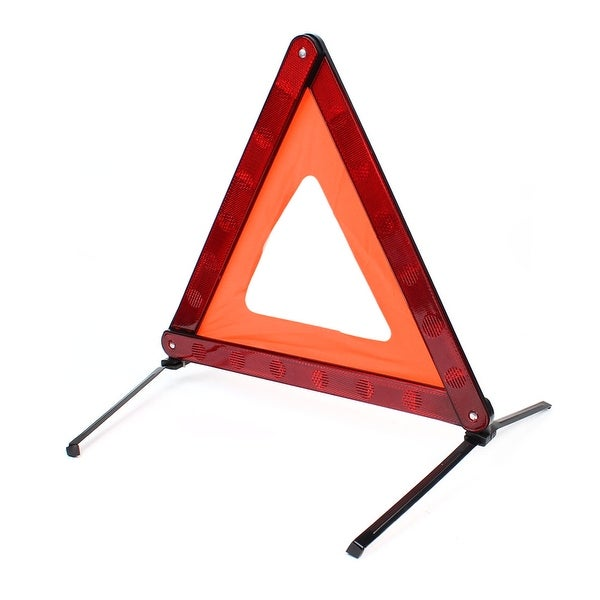 Unique Bargains Folding Emergency Traffic Warning Reflection Triangle Red Black