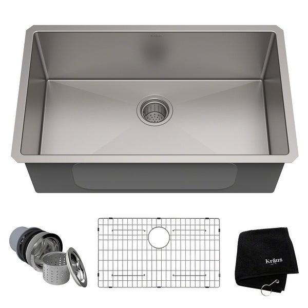 KRAUS Standart PRO Undermount 30-inch Stainless Steel Kitchen Sink