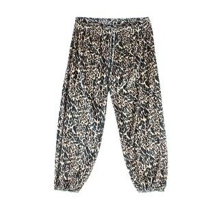Tart Brown Womens Size Small S Velour Animal Print Pajama Pants