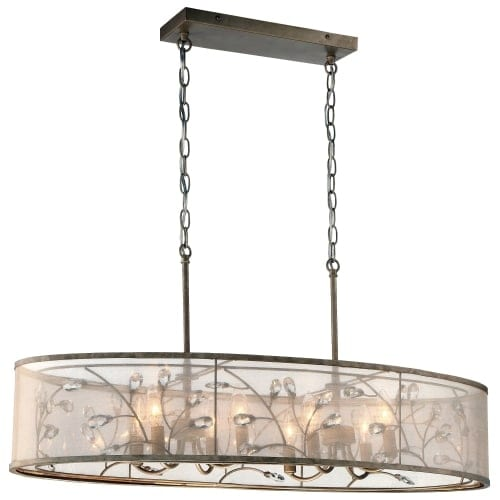 Minka Lavery 4436-252 8 Light One Tier Chandelier from the Sara's Jewel Collection