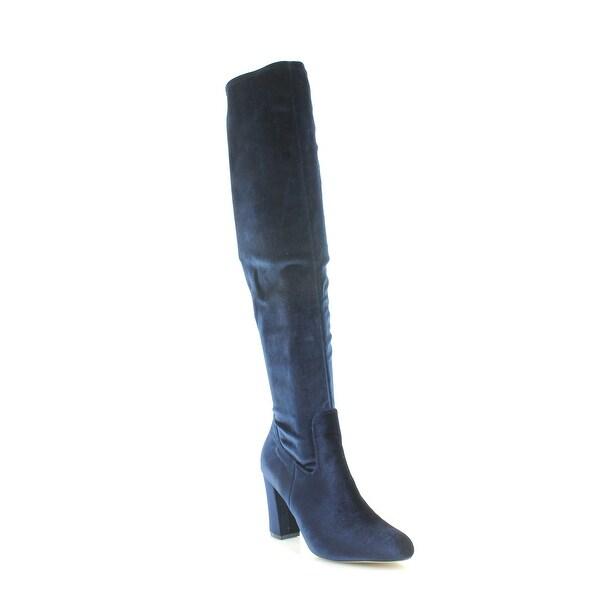 Madden Girl Felize Women's Boots Navy