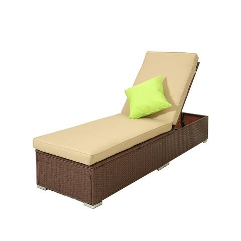 Moda Classic Outdoor Wicker Single Chaise Lounge