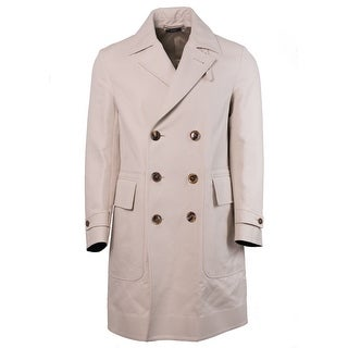 Tom Ford Mens Beige Pure Cotton Trench Style Raincoat - 38 r