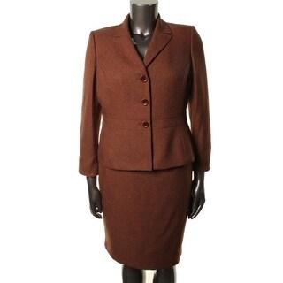 Le Suit Womens Rock Hill 2PC Herringbone Skirt Suit - 8