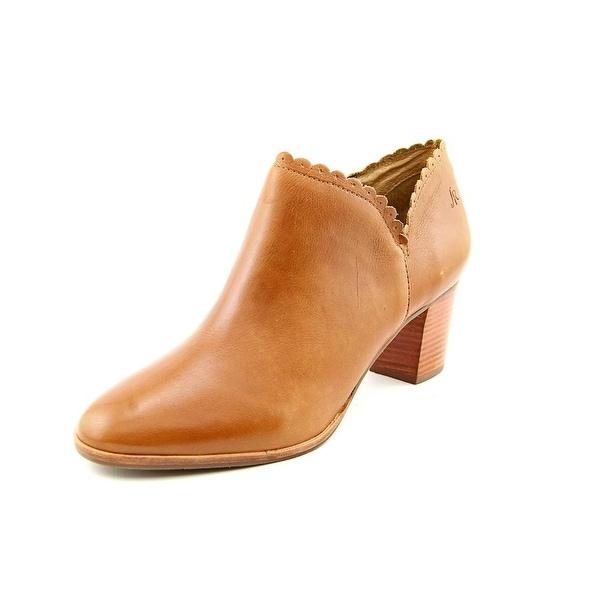 Jack Rogers Marianne Women Round Toe Leather Brown Bootie