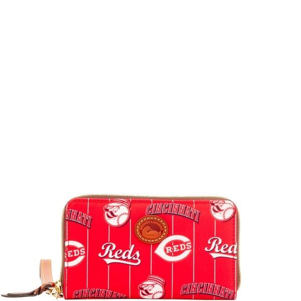 Dooney & Bourke MLB Reds Zip Around Phone Wristlet (Introduced by Dooney & Bourke at $118 in Mar 2016)