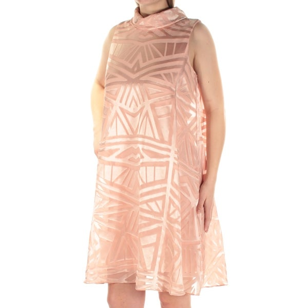 95b50ee64d1 Shop VINCE CAMUTO Womens New 1299 Pink Mock Neck Sleeveless Shift Dress 8  B+B - Free Shipping Today - Overstock - 21240615
