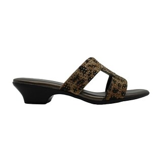 Link to Karen Scott Womens Esmayy Fabric Open Toe Casual Slide Sandals Similar Items in Women's Shoes