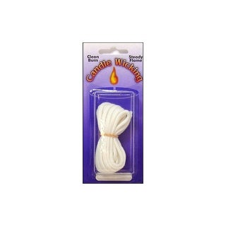 Pepperell Candle Wick Cotton Braid Very Lg 8' Wht