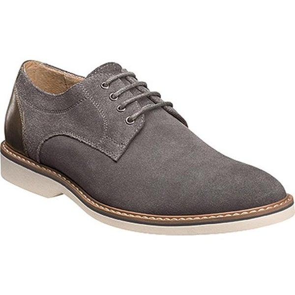 9f4d98d474b Shop Florsheim Men s Union Plain Toe Oxford Gray Full Grain Leather Suede -  Free Shipping Today - Overstock - 14047404