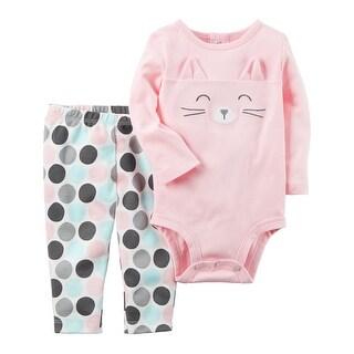 Carter's Baby Girls' Bodysuit Pant Sets 121g819, 6 Months