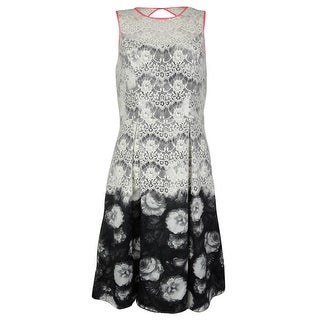 Jessica Simpson Women's Floral Print Lace Dress