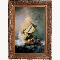Rembrandt 'The Storm on the Sea of Galilee' Hand Painted Oil Reproduction
