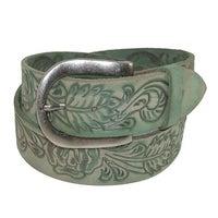 e88e070f0f58 Shop Belt Shak Women s Italian Leather Belt with Celtic Knot Buckle ...