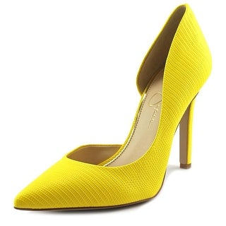 Jessica Simpson Claudette Pointed Toe Synthetic Heels