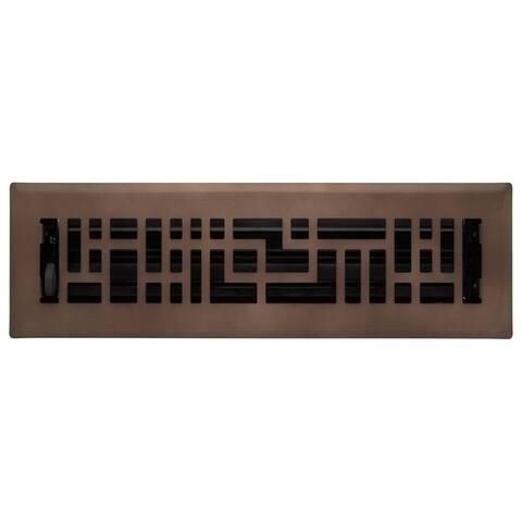"Signature Hardware 941729-2-12 Baer Steel Floor Register - 2"" x 12"""