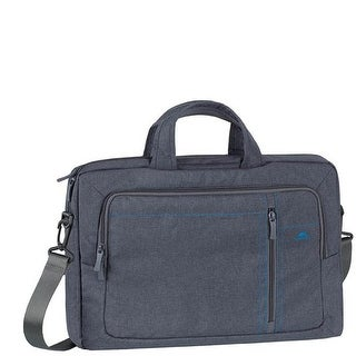 Rivacase 7530GREY 15.6 in. Laptop Canvas Shoulder Bag, Grey