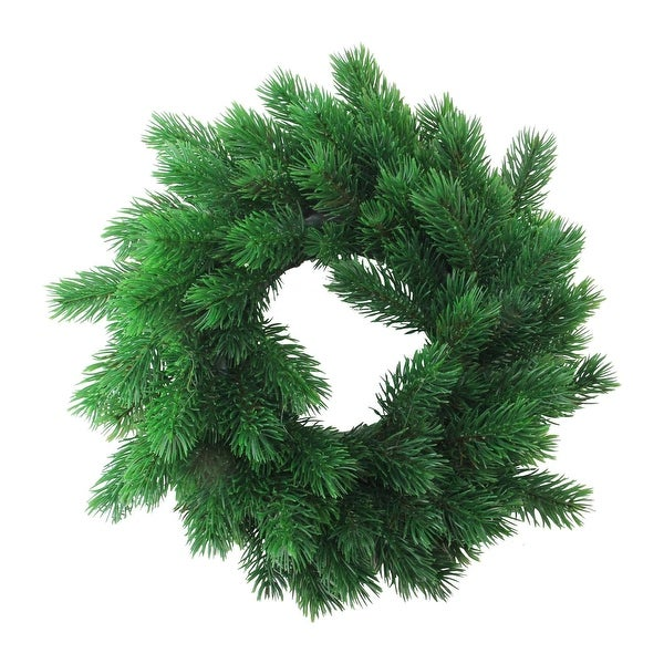 "12"" Decorative Green Pine Artificial Christmas Wreath- Unlit"