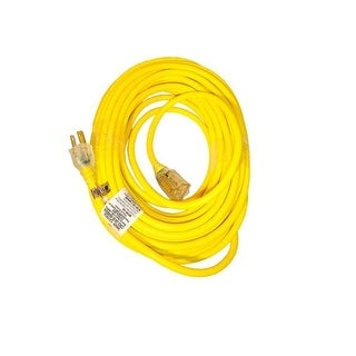 Snow Joe Pjext50-B Low Temp Extension Cord 50' 14 Gauge Lighted End - Yellow